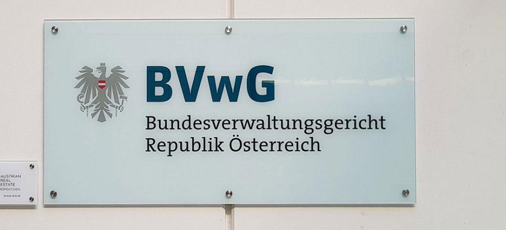 Gebäudeschild des Bundesverwaltungsgerichts
